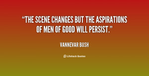 The scene changes but the aspirations of men of good will persist ...