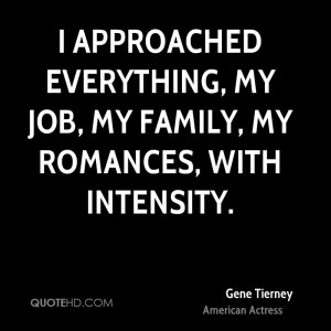 Gene Tierney Family Quotes