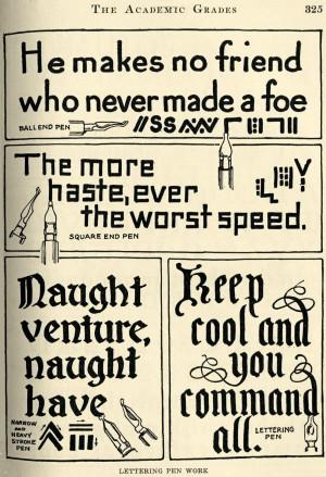 Vintage Clip Art – Lettering Quotes