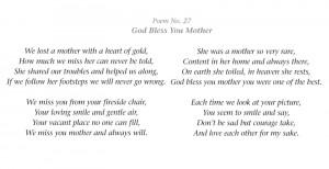 In Memory Of Mother Verses | memoriam memorial cards funeral cards ...