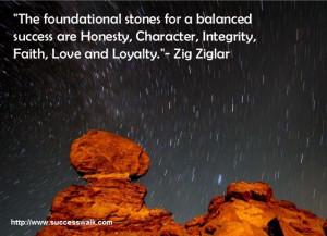 "... Honesty, Character, Integrity, Faith, Love and Loyalty.""- Zig Ziglar"