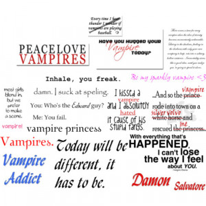 Vampire Quotes And Sayings Quotes on vampires