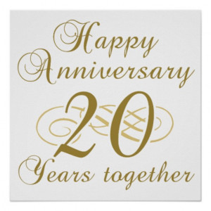 Stylish 20th Wedding Anniversary Gifts Poster