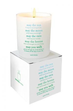 Apache Blessing Quote Candle