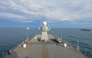 Oct. 23, 2014) The U.S. 6th Fleet command and control ship USS Mount ...