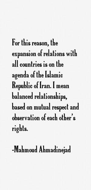 Mahmoud Ahmadinejad Quotes & Sayings