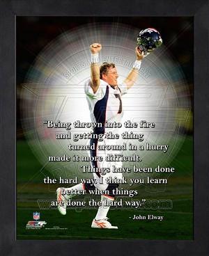 Framed John Elway Denver Broncos Pro Quotes