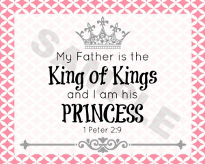 am a Princess and My Father is The King of Kings $2.00 on Etsy ...