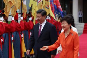 Park Geun Hye Chinese President Xi Jinping and South Korean President