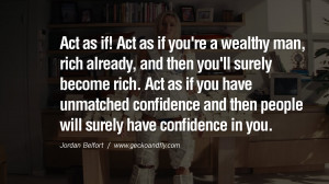 Act You Wealthy Man Rich...