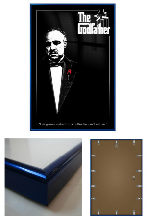 ... GODFATHER - FRAMED MOVIE POSTER / PRINT (VITO CORLEONE QUOTE) (24