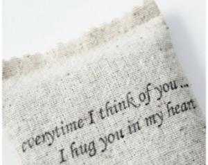 Sentimental Quote Botanical Sachet, Long Distance Relationship ...