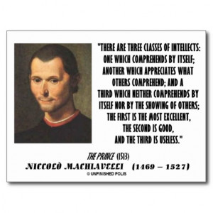 machiavelli_three_classes_of_intellects_quote_postcard ...