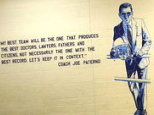 Paterno Picture, Quote on Middle School 'Heroes Wall' Raises Red Flags ...