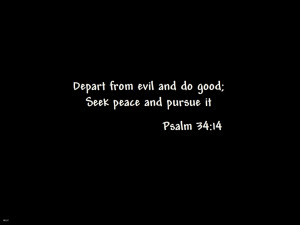 Depart from evil and do good;