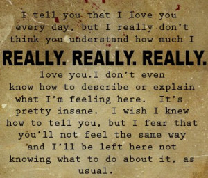 You Dont Know How Much I Love You Quotes. QuotesGram