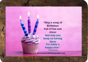 Birthday Quote About Sing A Song Of Birthday