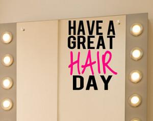 Salon Mirror Decal, Beautician Viny l Decal, Hair Stylist Gift, Good ...
