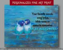 bird art print, Brown teal nav y blue bedroom decor, Teal wall quote ...