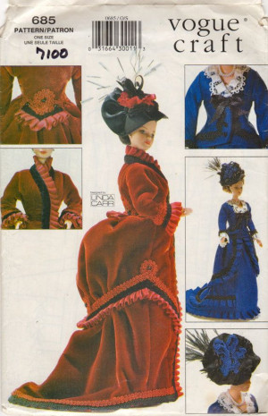 Clothing Pattern, Dolls Historical, Vogue 7100, Fashion Dolls, Clothes ...