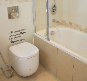 ... about If You Sprinkle Bathroom Wall Quote Art Stickers Wall Decals