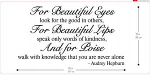 Aliexpress.com : Buy For Beautiful Eyes by Audrey Hepburn Audrey ...