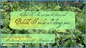 Lily of the Valley Inspirational Quote