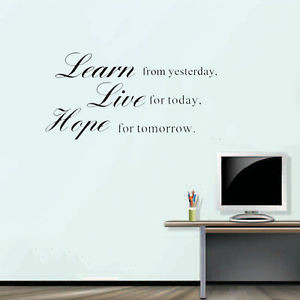 Learn-from-yesterday-Live-for-today-Vinyl-wall-decals-quotes-sayings