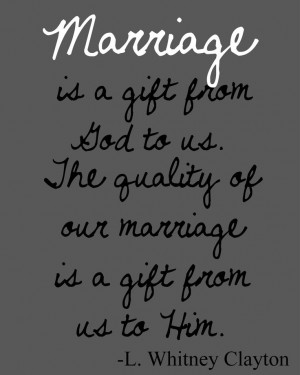 ... Quote Lds, Favorite Quote, Marriage And God Quote, Lds Marriage Quote