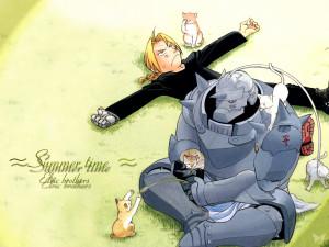 Fullmetal+Alchemist+Wallpaper+Alphonse+Elric+Edward+Elric+www ...