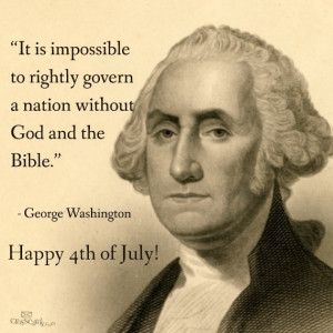 George Washington quote about God, Nation and the Bible