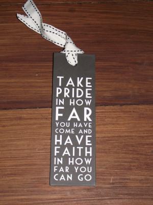 Brown Pride Love Quotes Bookmark 'take pride' i