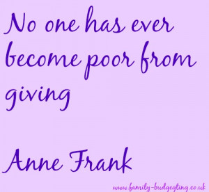 Anne Frank on Giving