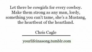 Cowgirl strong.