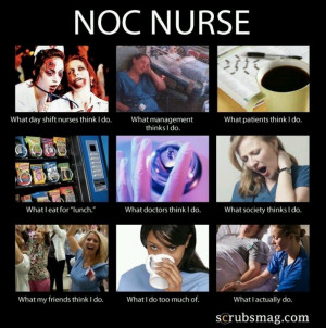NOC shift nurse- I did this for 3 years!!!