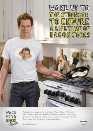 Kevin Bacon wants you to eat your eggs (AP Photo/American Egg Board)
