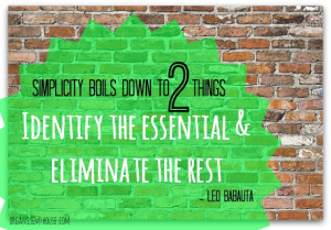 Simplicity boils down to two things – identify the essential and ...