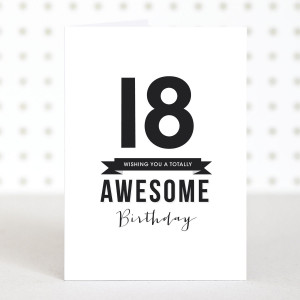 awesome 18 birthday card £ 2 50 turning 18 is pretty awesome event so ...