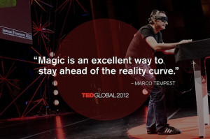 Marco Tempest at TEDGlobal 2012. Photo: James Duncan Davidson