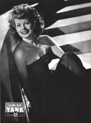 1940s / Lucille Ball As Pin-Up Girl