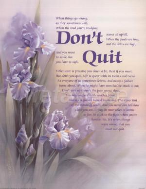 Don't Quit by T.C. Chiu art print