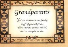 Grandparents quote via Carol's Country Sunshine on Facebook More