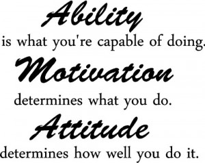 ... Attitude determines how well you do it inspirational wall quotes