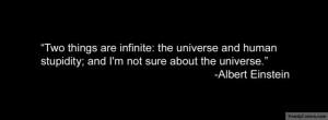 Human Stupidity Albert Einstein quote