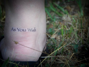 As You Wish Temporary Tattoo Body Art Tattoo by SymbolicImports, $3.00