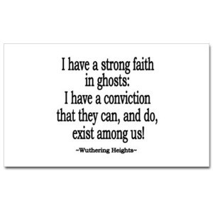 Wuthering Heights Quote Sticker (Rectangular) - CafePress United ...