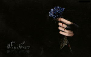dark horror fantasy gothic vampire blood flowers wallpaper background