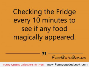 Funny quotes about fridge and sweets