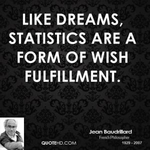 Jean Baudrillard Dreams Quotes