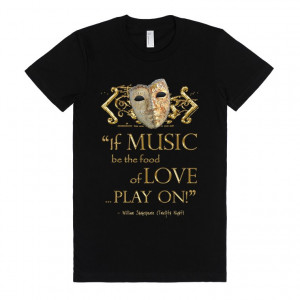 Shakespeare's Twelfth Night Music Quote (gold Version)